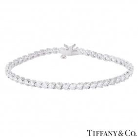 Tiffany & Co. Platinum Diamond Victoria Bracelet 4.60ct